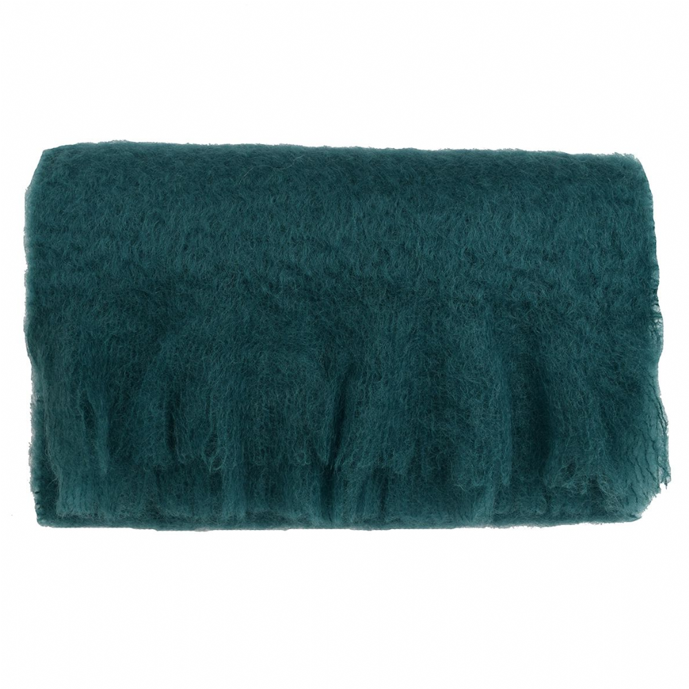 Large Mohair Scarf - Peacock